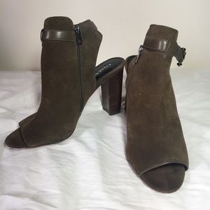 Coach Lafayette Suede Ankle Boots 10B Booties